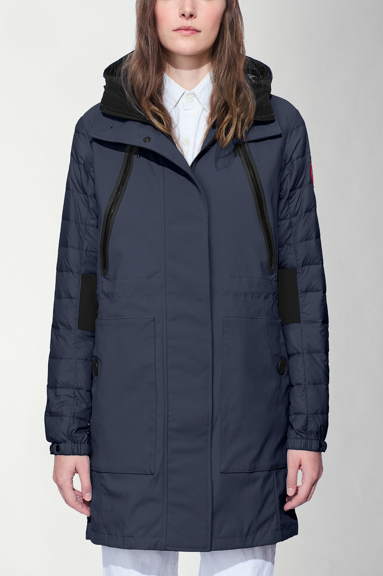 canada goose lodge hooded jacket admiral blue