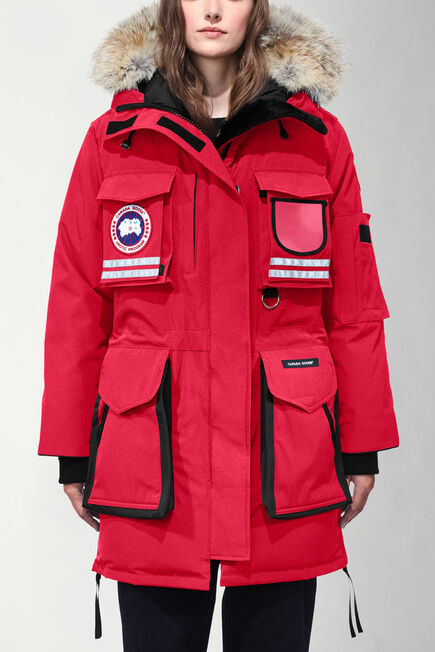 Ladies Red Canada Goose Coat