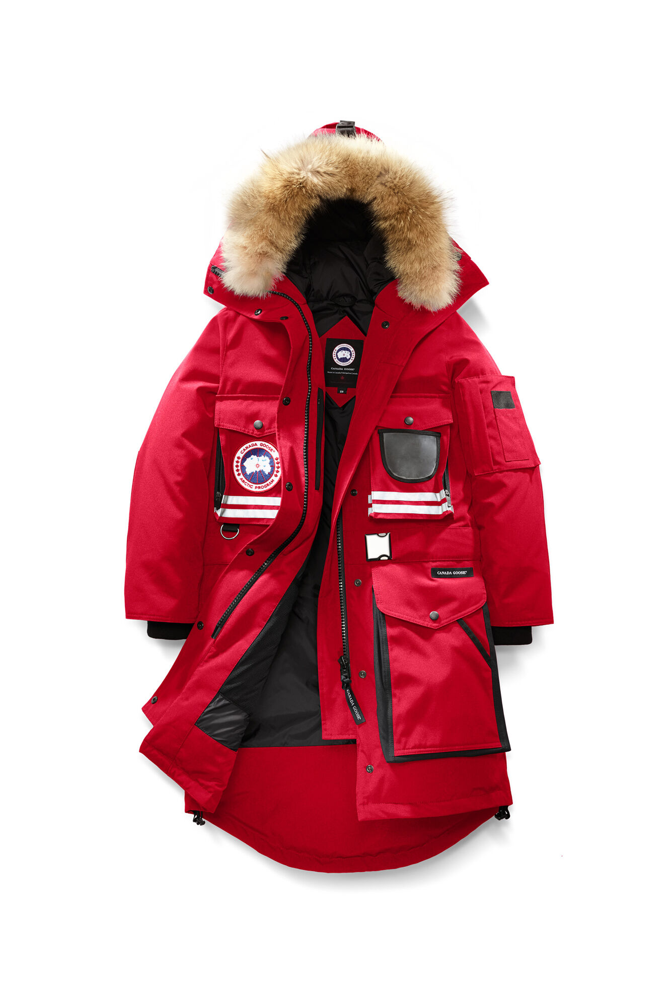 canada goose jacket womens red