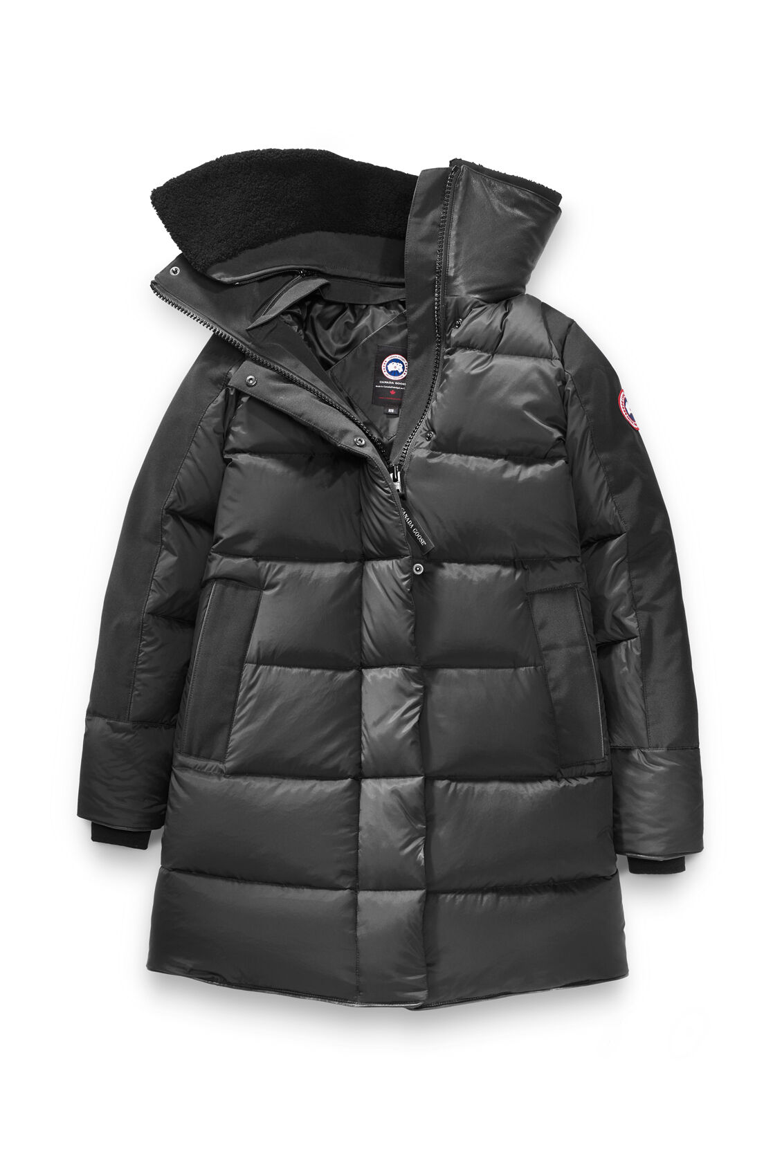 Women's black parka style jacket