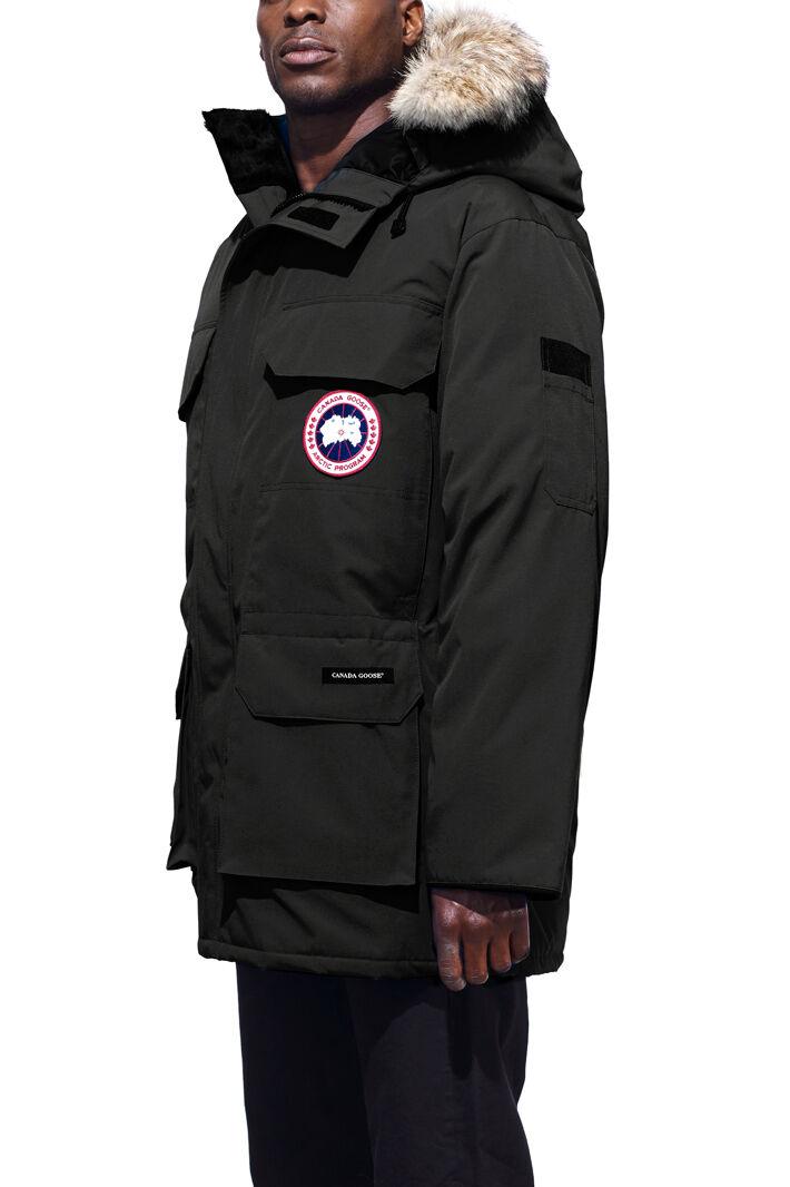 Mens parka coats with fur hood next