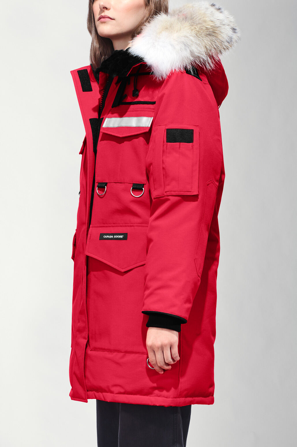 canada goose red jacket