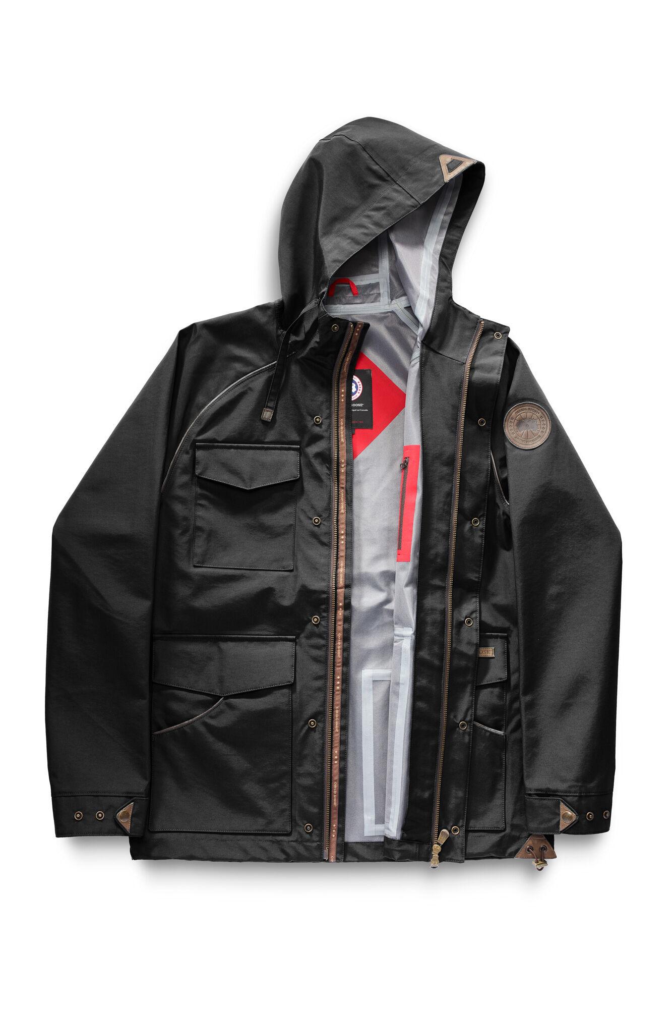 Ts heritage mens dark green long parka jacket
