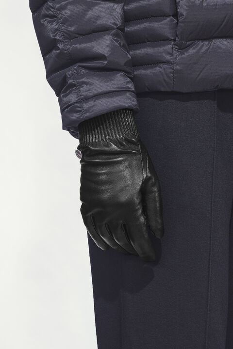 Women's Leather Rib Gloves   Canada Goose