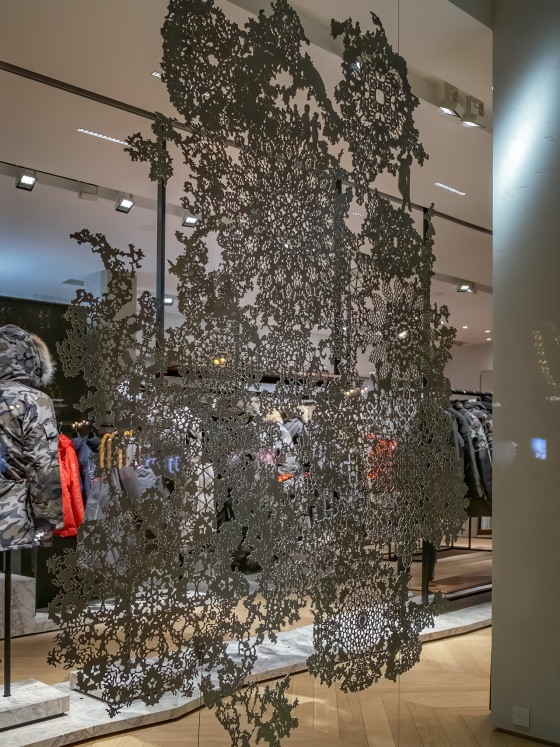 Artwork in the Canada Goose Paris Store