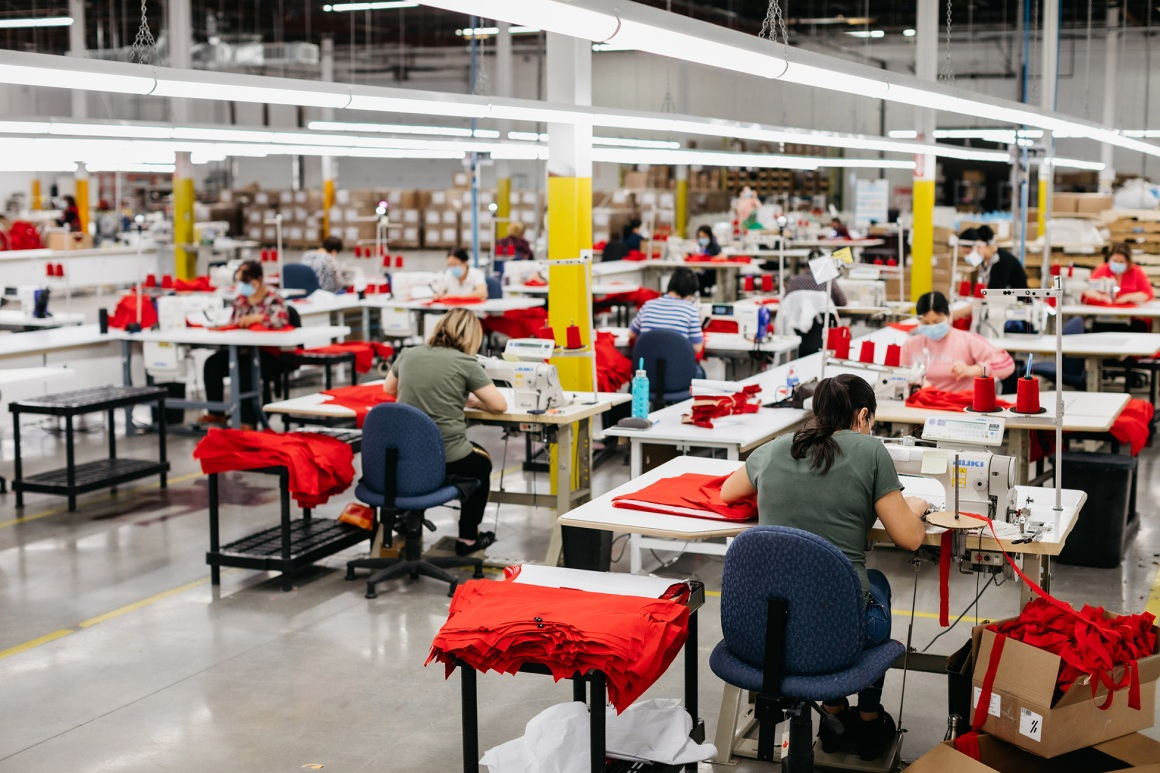Canada Goose manufacturing scrubs and gowns Response Program