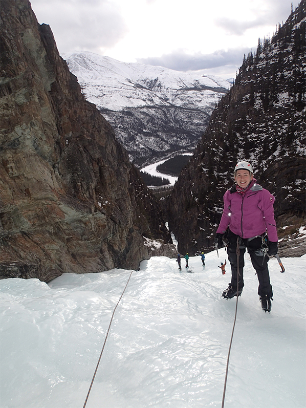 Eva Holland ice climbing