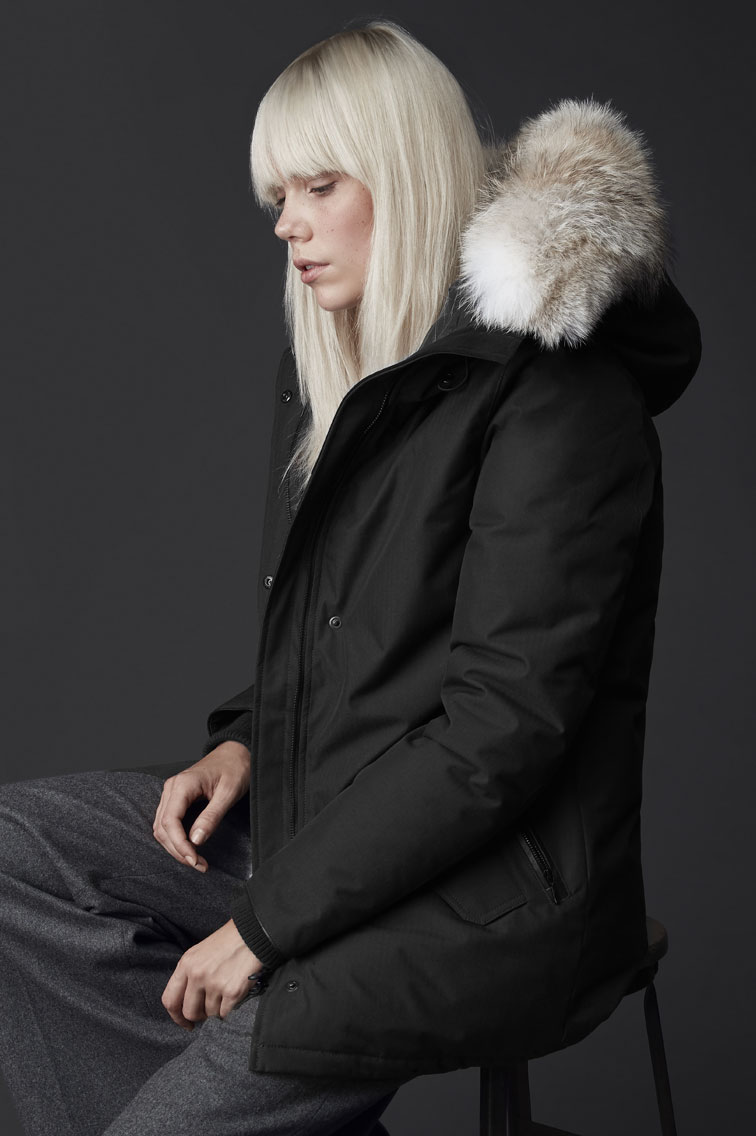 canada goose rossclair parka black label