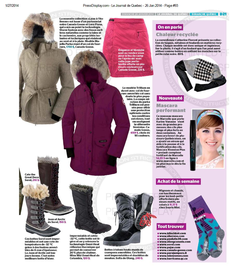 Canada Goose trillium parka outlet store - 01/27 Le Journal de Quebec | Canada Goose?