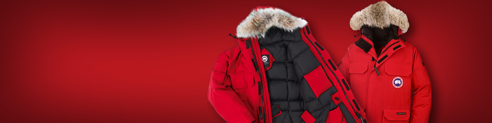 women's Canada Goose' expedition parka red