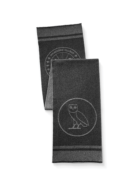 Maxi sciarpa con logo x OVO (D)