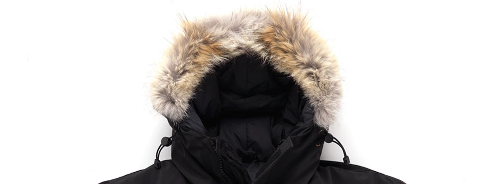 Canada Goose non-counterfeit fur lining